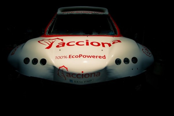 Acciona 100x100 Ecopowered electric car. Barcelona , nov 2014