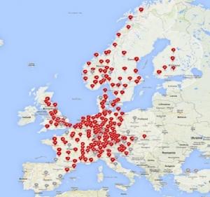 mapa supercargadores tesla