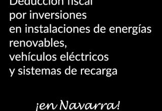 Navarra duducciones fiscales por la compra de coches eléctricos y puntos de recarga