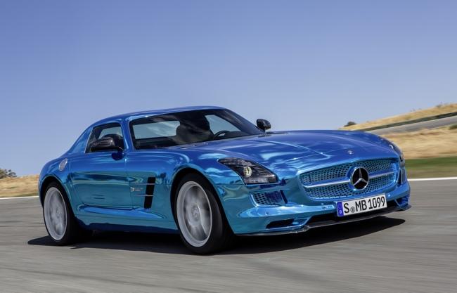 Mercedes-Benz SLS AMG Coupé Electric Drive eléctrico París