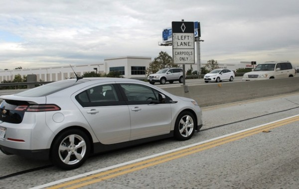 Chevrolet Volt  carpool lane California