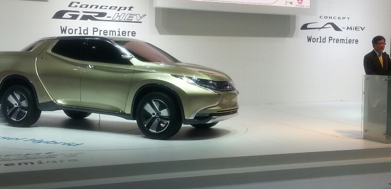 Mitsubishi Concept GR-HEV (un Pick-up peculiar)