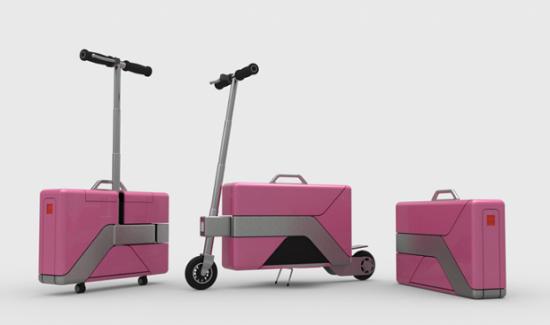 Commute Case, maletín y monopatín eléctrico.