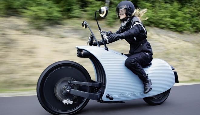Johammer J1, la moto eléctrica austriaca hecha con plástico reciclado