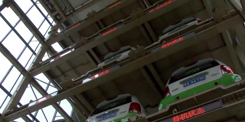 Máquinas expendedoras alquilan coches eléctricos en China
