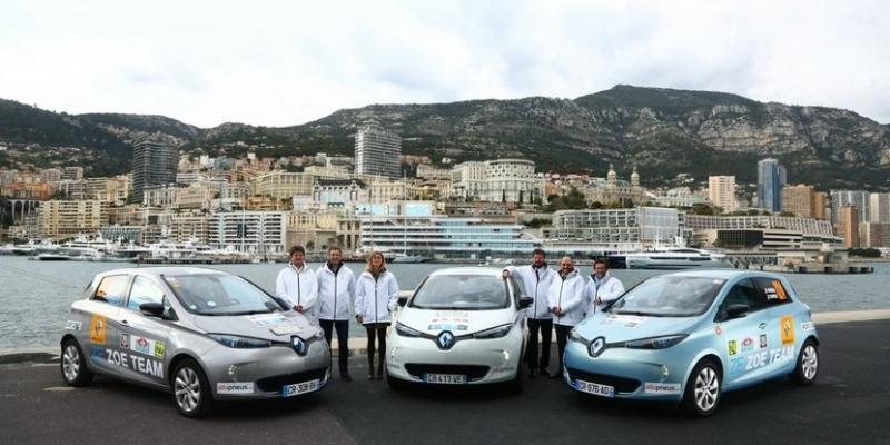 El Renault Zoe eléctrico gana el raylle de monte-carló
