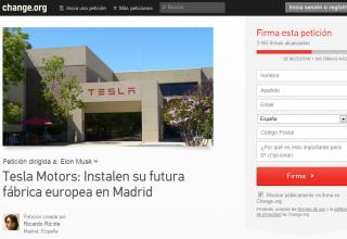 Iniciativa popular para que la fábrica de TESLA se instale en Madrid